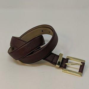 NWOT Ann Taylor Wine Colored Vegan Leather Belt